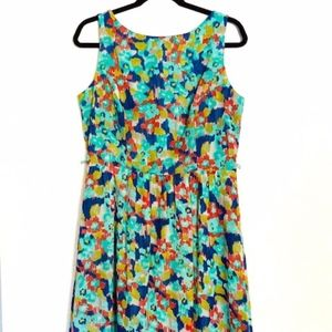 Ronni Nicole | Green Abstract Floral Dress Sz 12